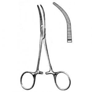 Baby Overholt Artery Forceps Curved 13.5cm