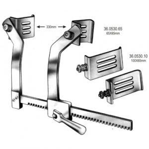 Blade for Braastad Retractor 100x65mm pair Aluminium