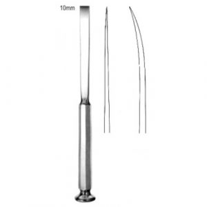 Bone Grafting Osteotome Curved 10mm, 20cm