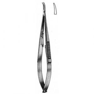 Castroviejo Needle Holder Curved w/catch 17cm