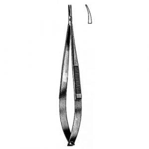Castroviejo Needle Holder Curved w/o catch 10cm
