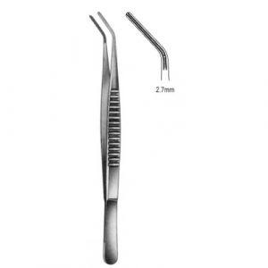 DeBakey Tissue Forceps Atrauma angled 2.7mm 19.5cm