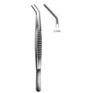 DeBakey Tissue Forceps Atrauma angled 2.7mm 30cm