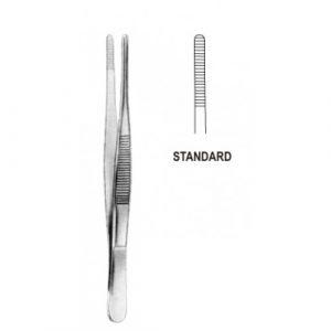 Dressing Forceps USA model fluted grip 31cm