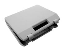 Ecobag Plastic box w/foam black 385x262x88mm