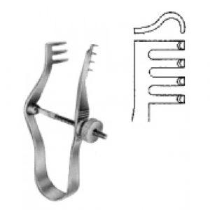 Finsen Retractor blunt w/screw 5cm