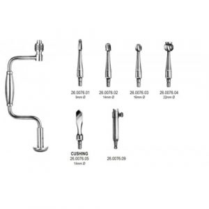 Hudson Brace 27cm complete set w/1,2,3,5 and ext.