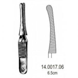 Johns-Hopkins Haemostatic Forceps Curved 6.5cm