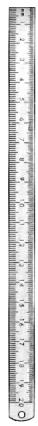 Ruler Metal 30cm