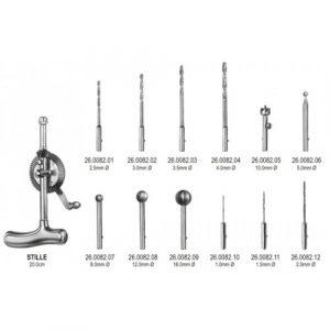 Stille Bone Hand Drill 20cm comp. w/drills