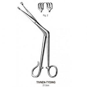 Tivnen Tyding Tonsil Seizing Forceps 3x3T, 21cm
